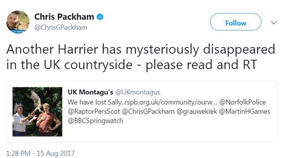 Tweet by Chris Packham