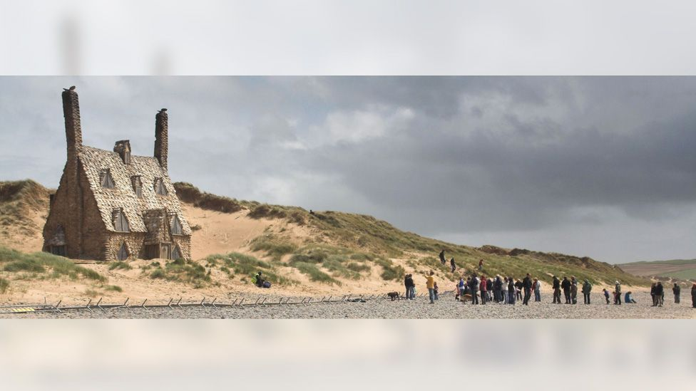 Filming of Harry Potter on beach