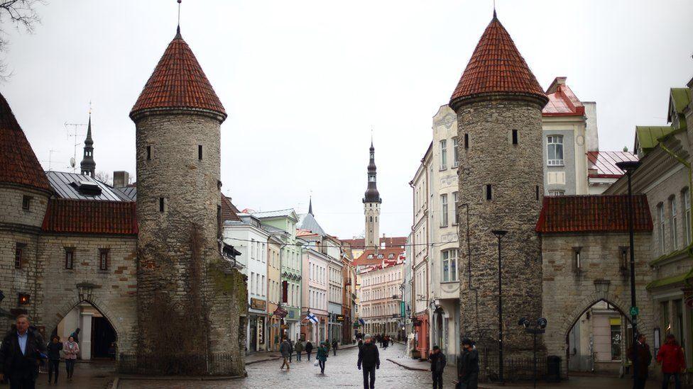 The city gates in Talinn