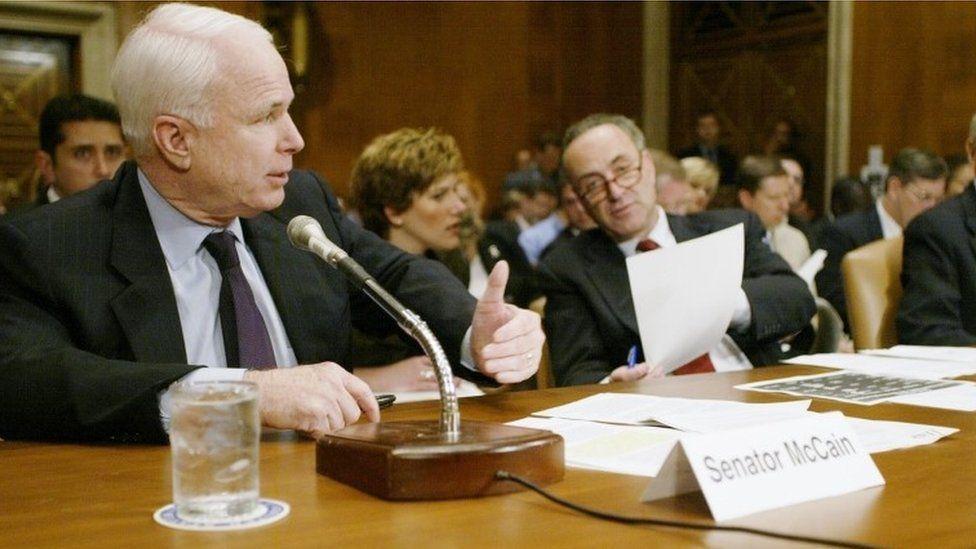 Senator John McCain speaks at Senate Health, Education, Labor and Pensions Committee hearing
