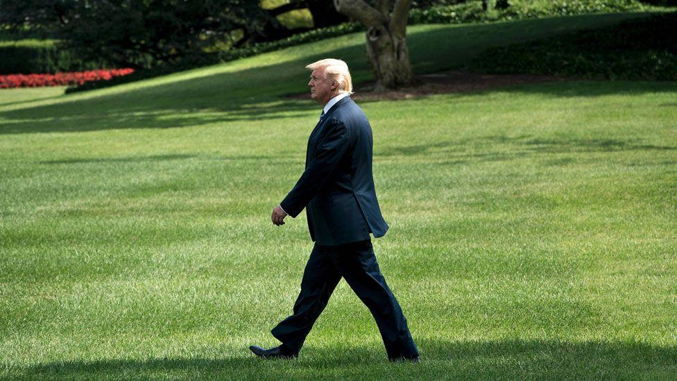 Trump a White House