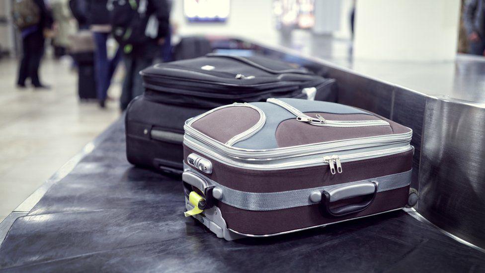 Bag on luggage carousel