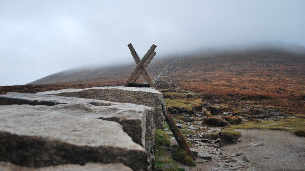 A style over the Mourne Wall in the Mourne mountains