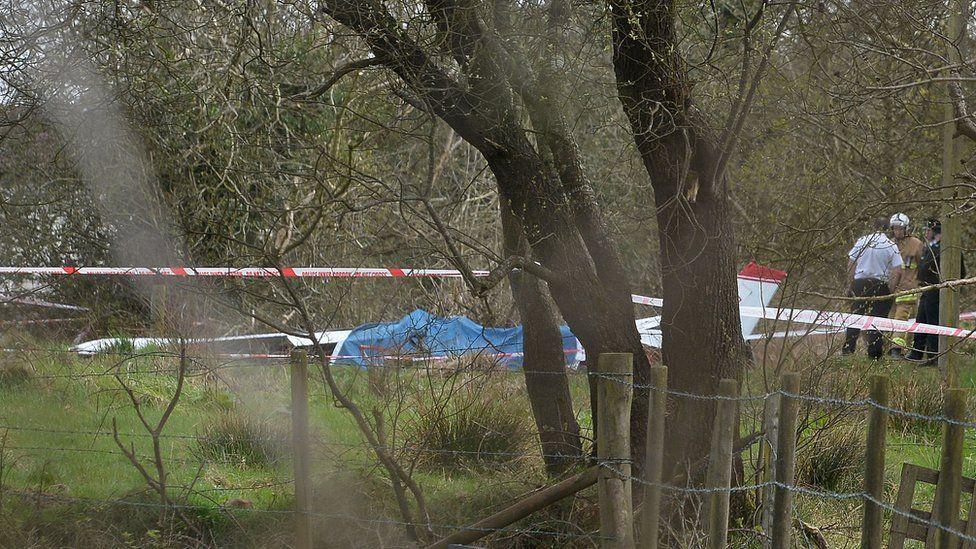 Aircraft crash scene