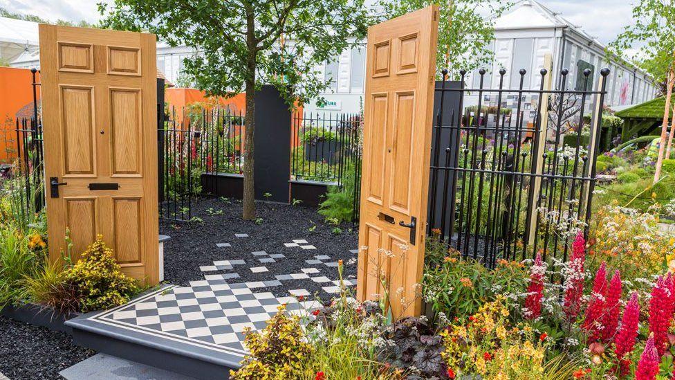 The Modern Slavery garden at RHS Chelsea Flower Show