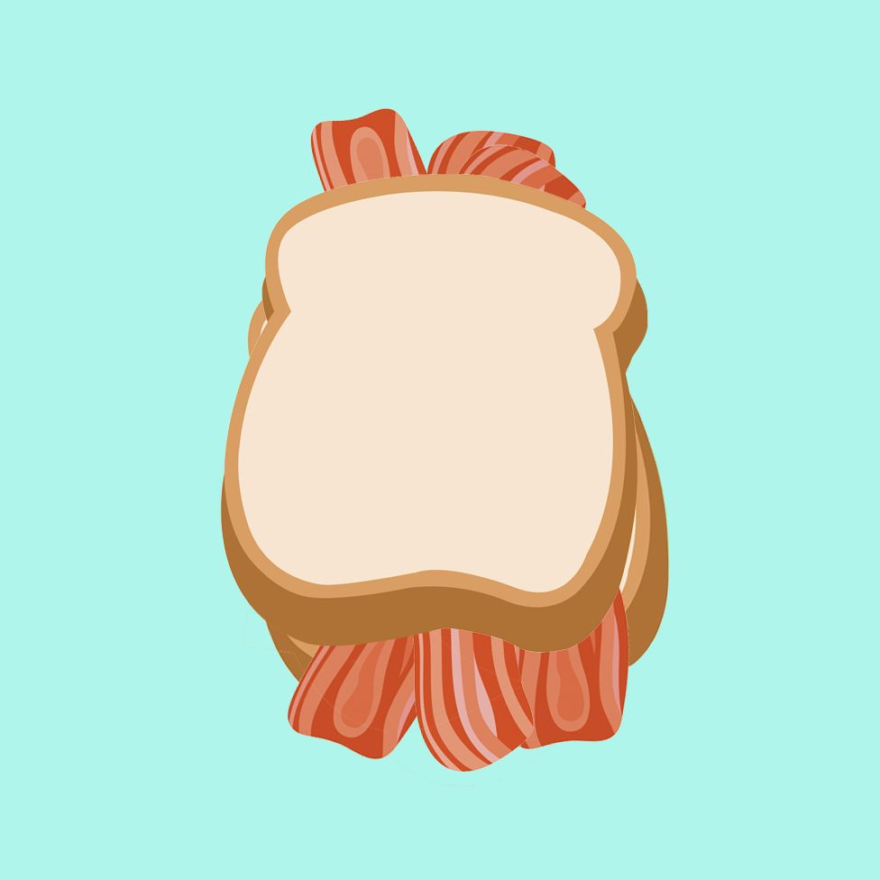 Bacon sandwich illustration