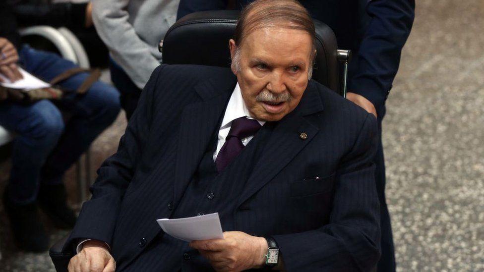 Abdelaziz Bouteflika in a wheelchair