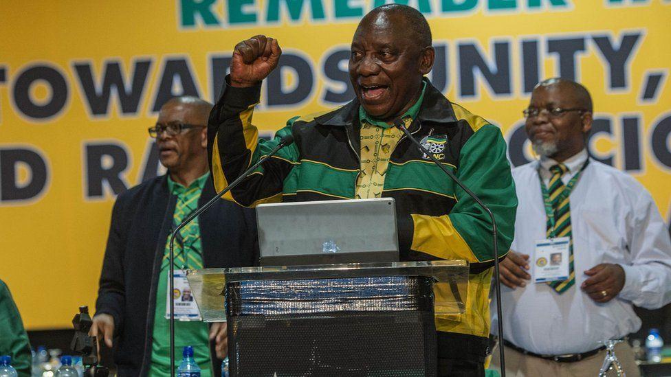 Cyril Ramaphosa at ANC conference