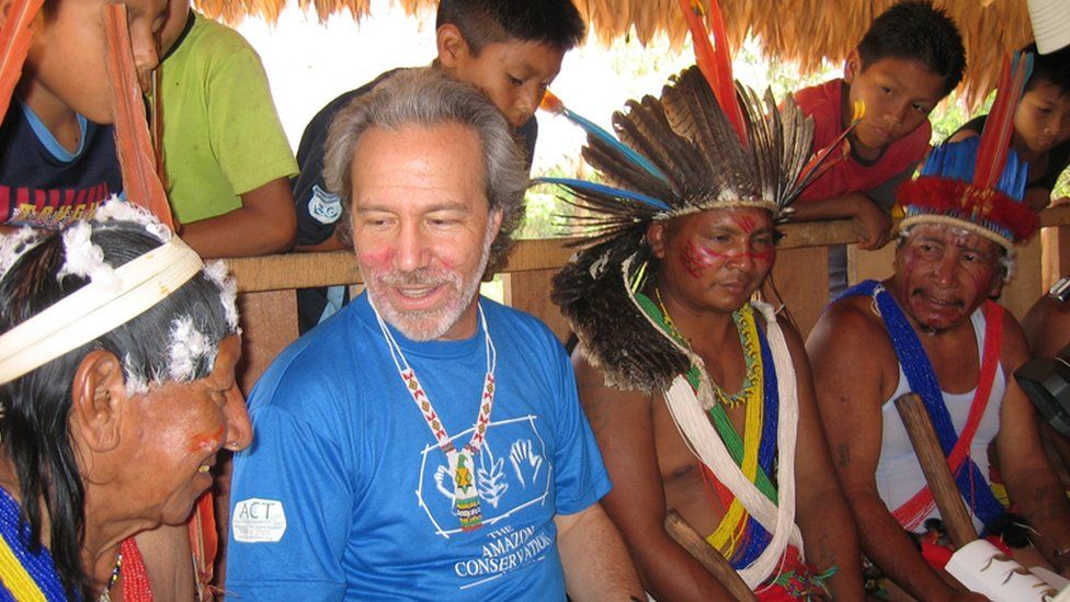 Mark Plotkin with native Amazonian tribes