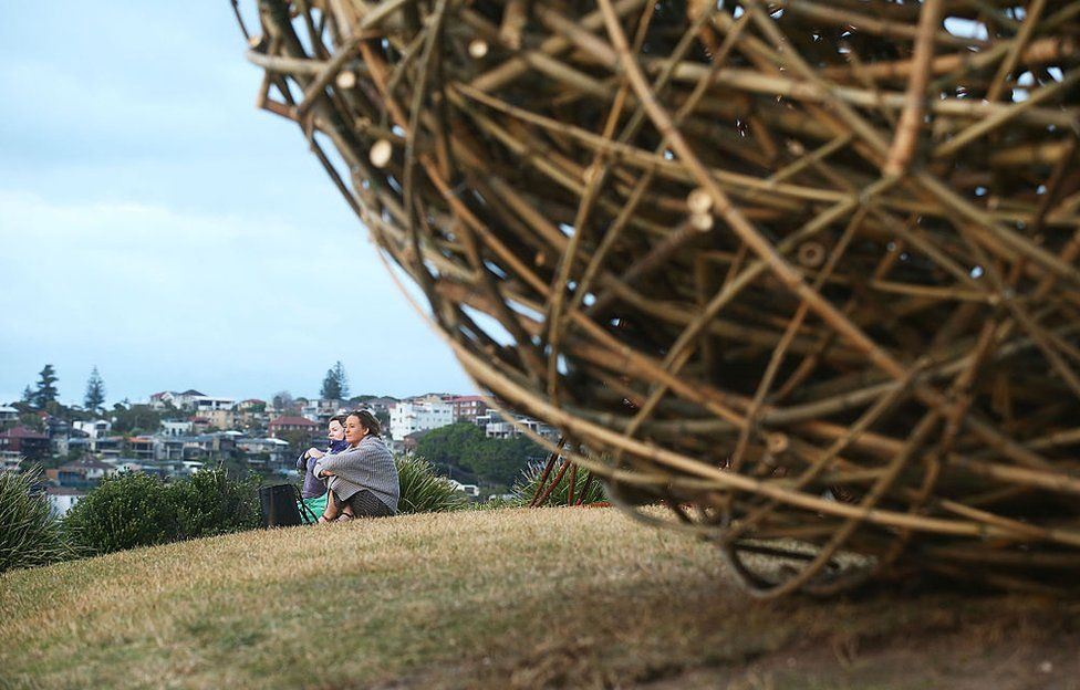 This huge bamboo and steel sphere, for example, took a team more than a week to set up.