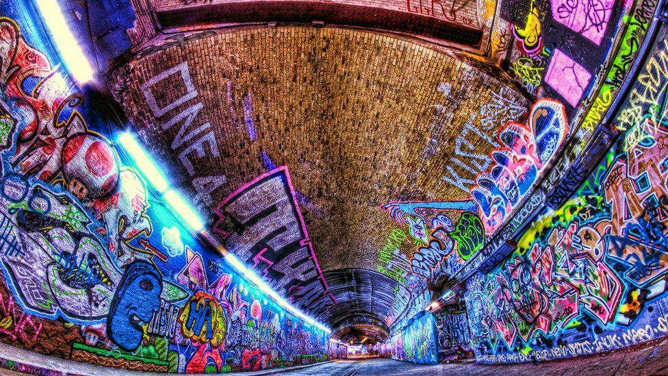 Graffiti in Leake Street, Waterloo, London