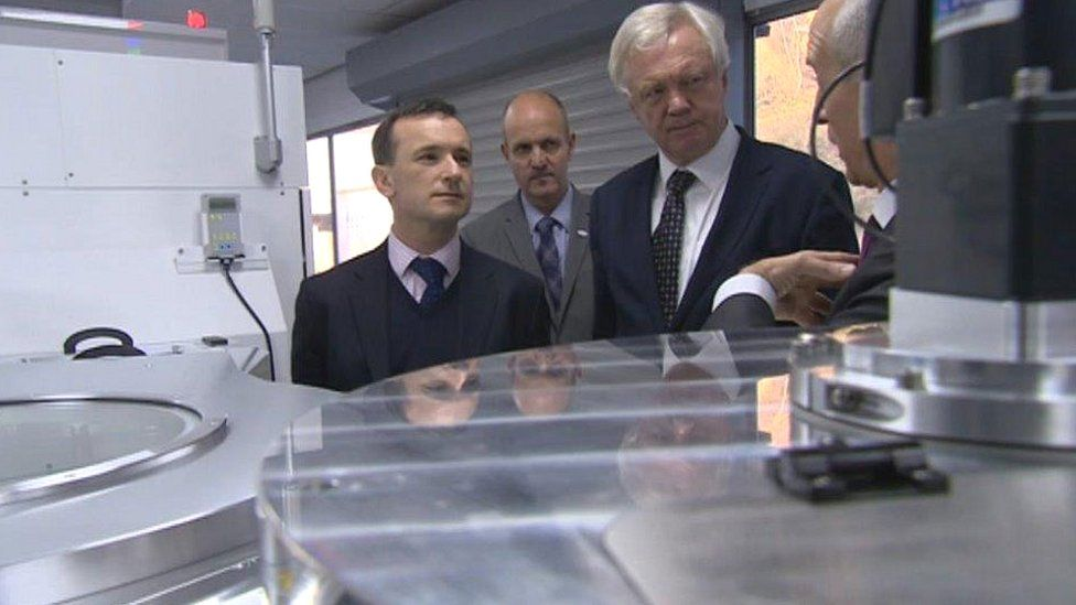 David Davis toured semi-conductor firm SPTS Technologies, which has been at Coldra, Newport for 20 years