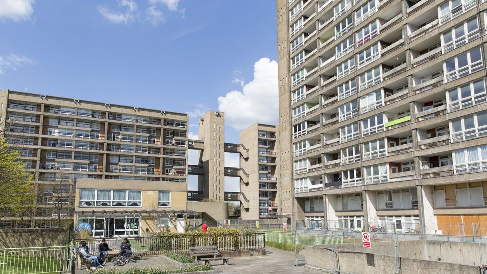 A council estate in London, the UK