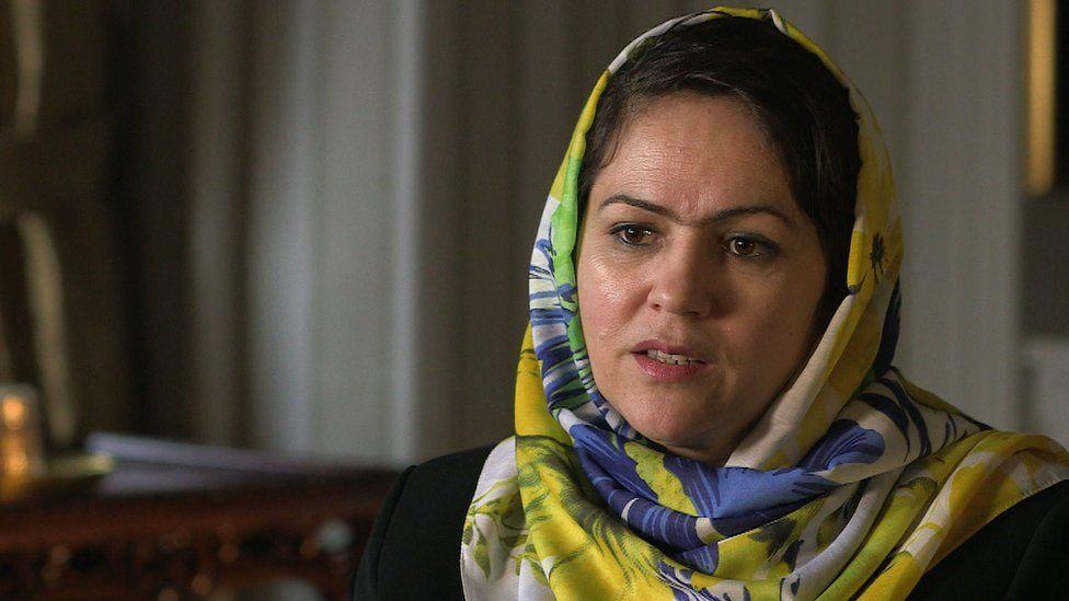 Fawzia Koofi is pictured in an interview in 2015