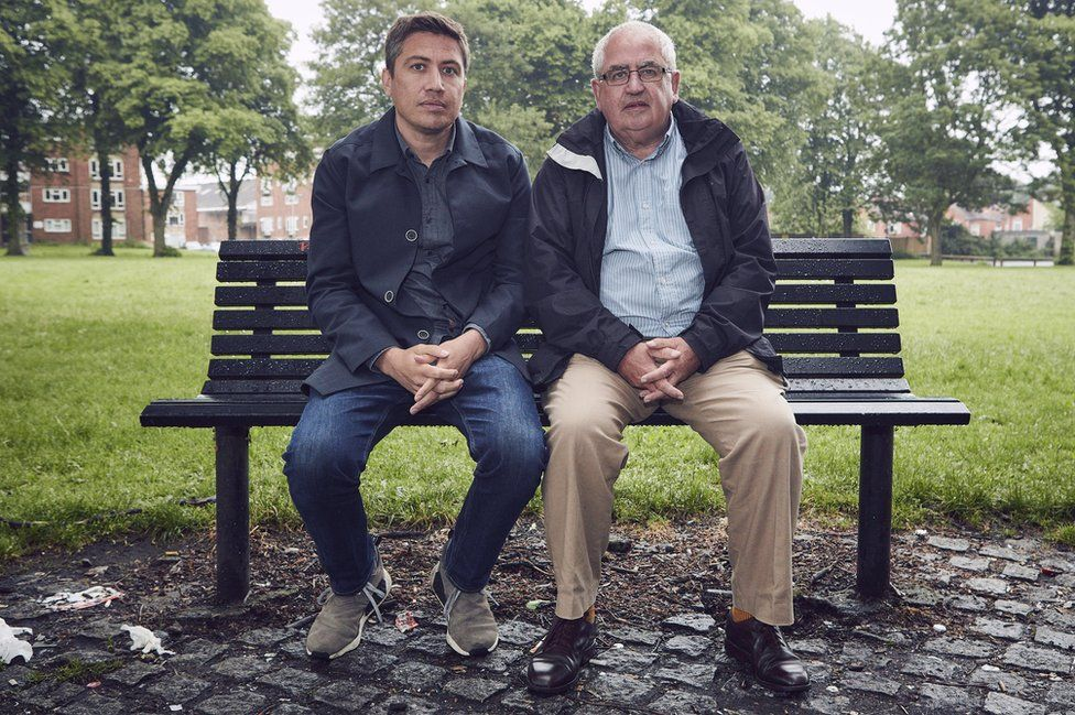 Iain Cunningham (left) with his father, Don