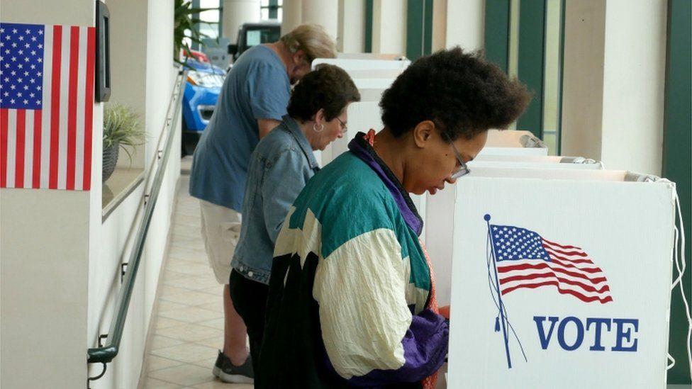 California voters in Santa Monica