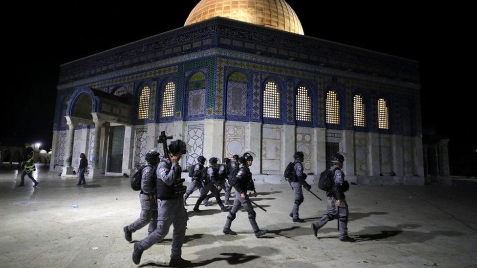 The al-Aqsa mosque has been a frequent flashpoint for violence