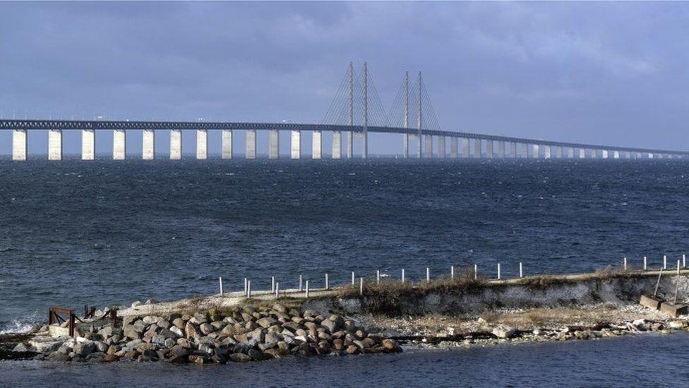 Oresund Bridge, linking Denmark and Sweden