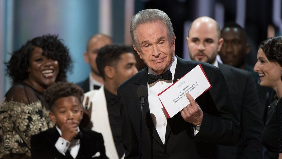 Warren Beatty at Oscars