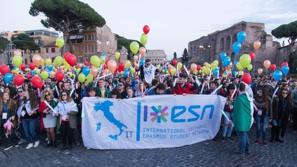 Erasmus students in Rome