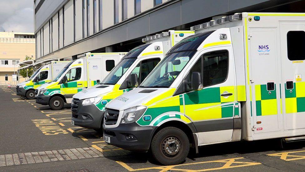 ambulances at hospital