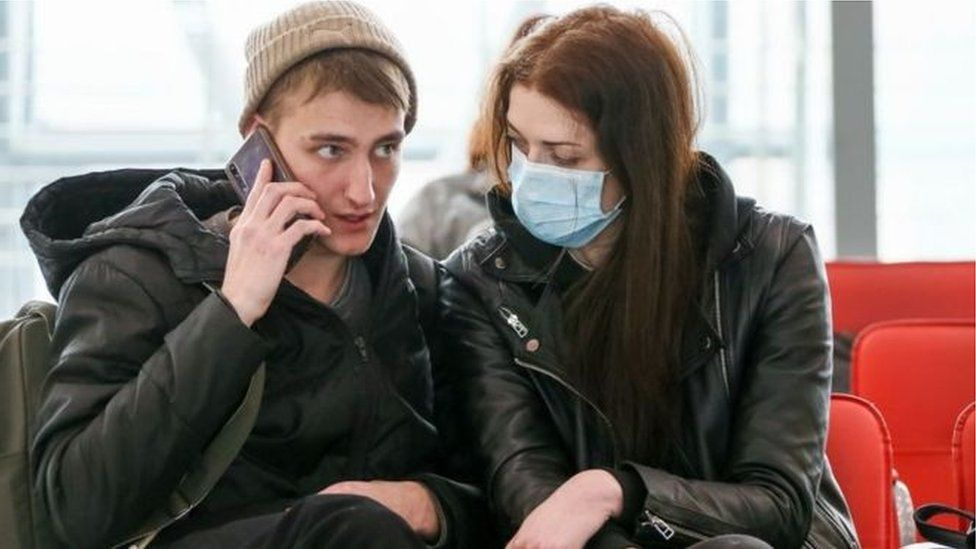 Students wearing face mask