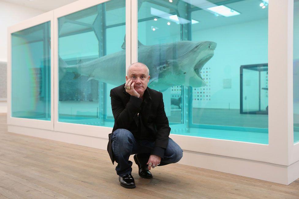 Damian Hirst at Tate Modern in 2012