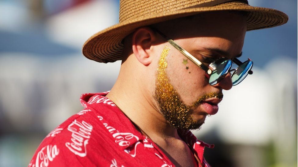What's a festival without a glitter beard?