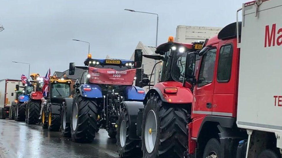 Farmers protest Melton Mowbray