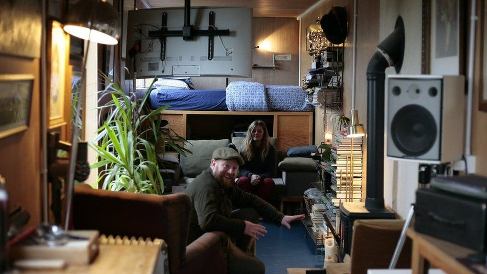 Young people living in vans, tiny homes and containers - BBC