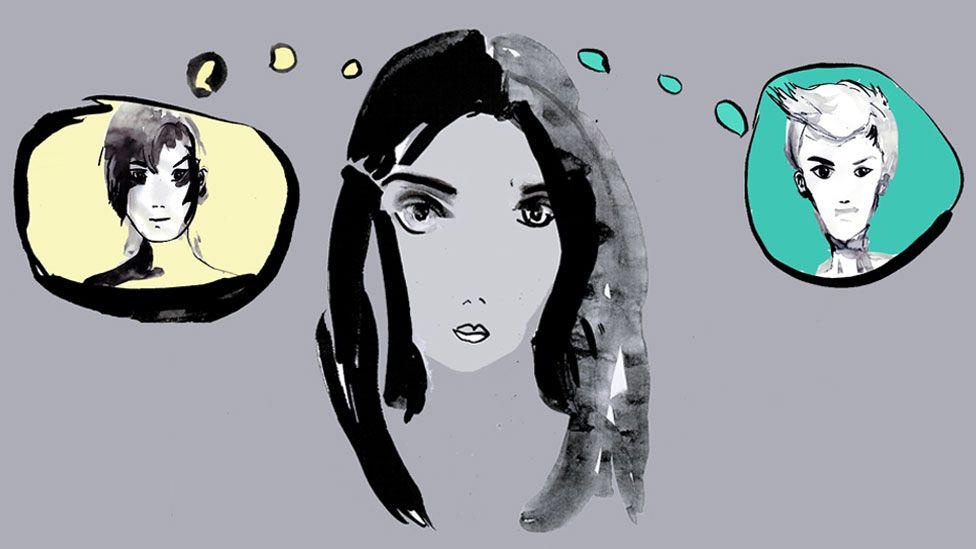 Illustration of Daya Bharj daydreaming