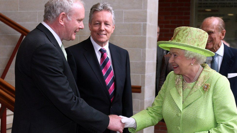 The Queen and Martin McGuinness shook hands in public in 2012 in what was seen as a 'seismic moment' in his political journey