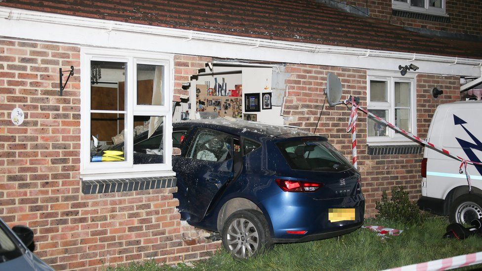 Car hits house in Burgess Hill