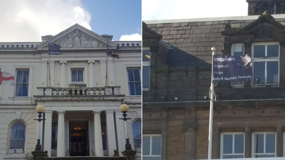 Flags flown at Southport and Bootle town hall
