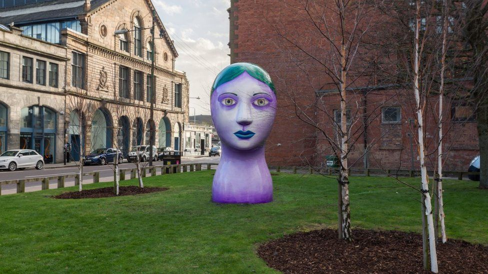 Nicolas Party's Head stands out at The Modern Institute