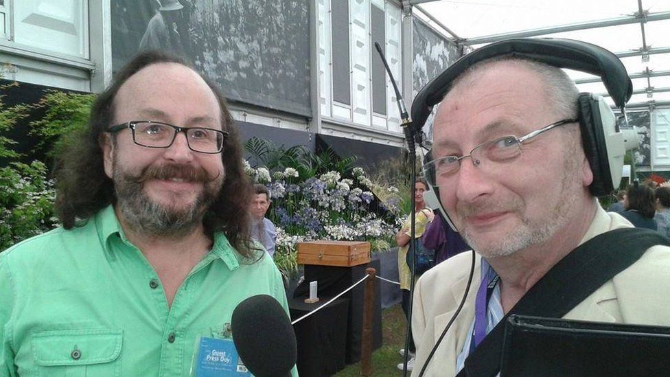 Andy Potter and a Hairy Biker