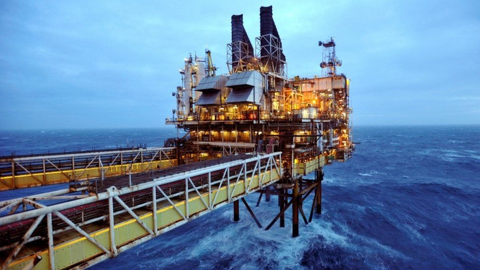 A section of the BP Eastern Trough Area Project oil platform in the North Sea, around 100 miles east of Aberdeen