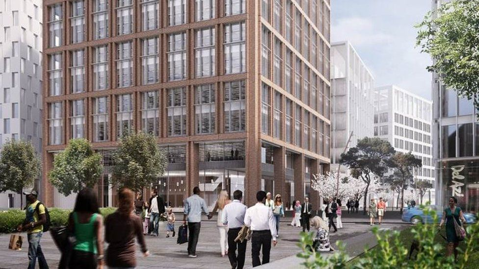 Artist's impression of new city council building