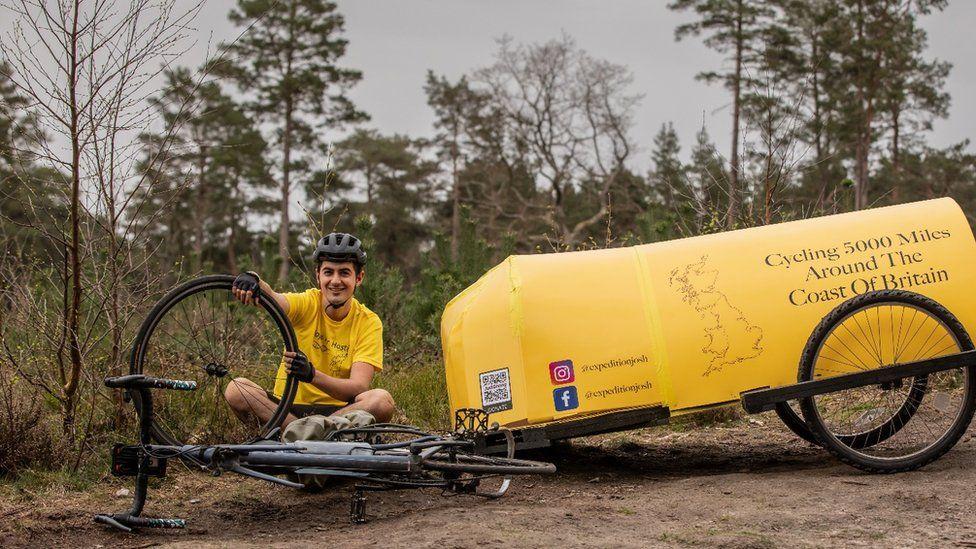 Josh Garman and his self-made camper