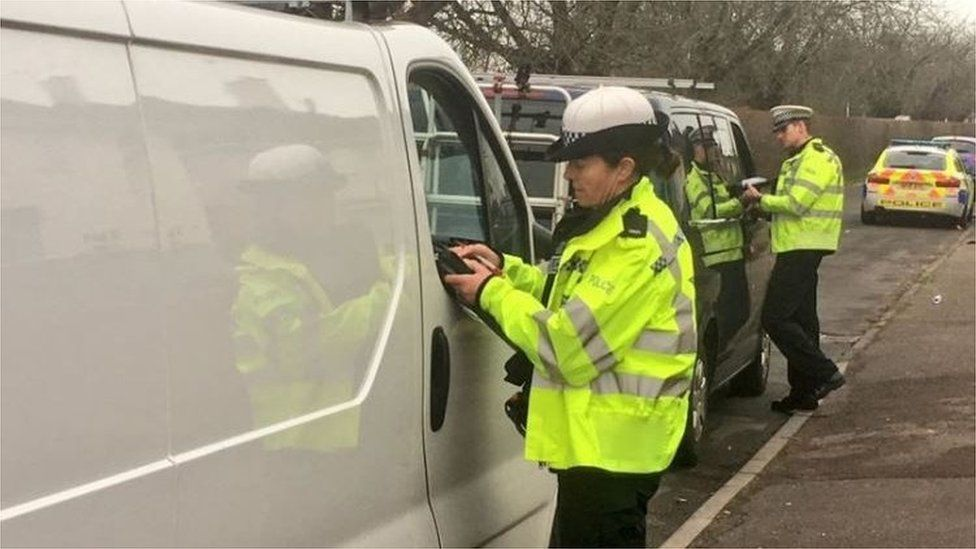 Dorset Police stopping drivers