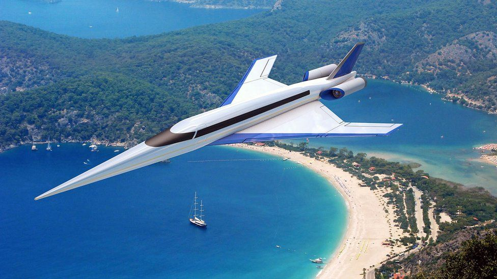 Spike S-512 supersonic jet, illustration