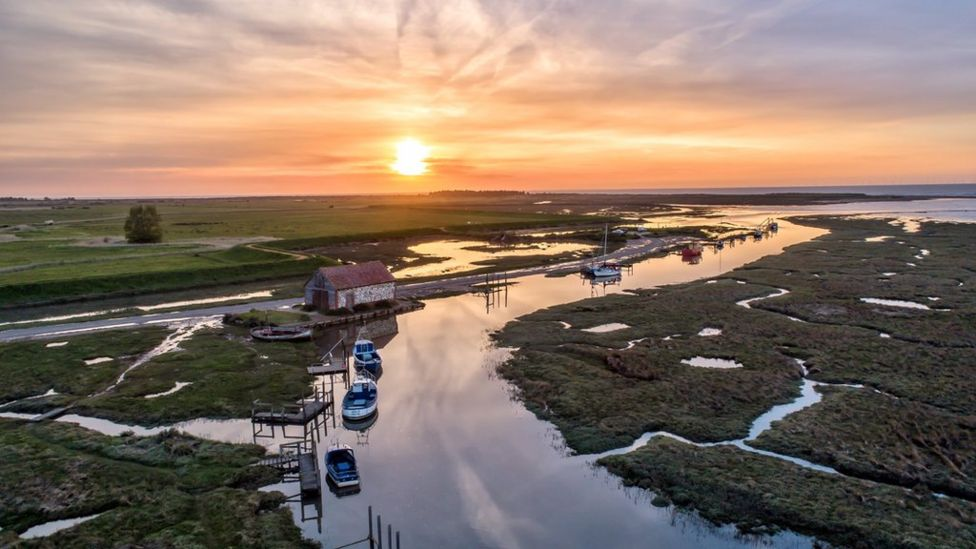 Thornham Staithe at sunset