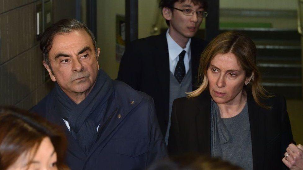Carlos and Carole Ghosn