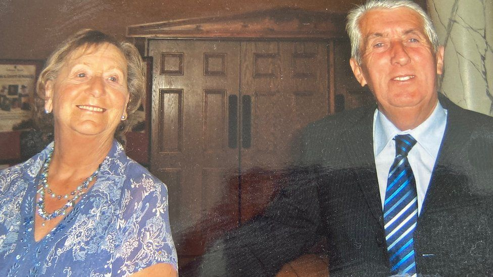 Jackie Farell with his wife Mary