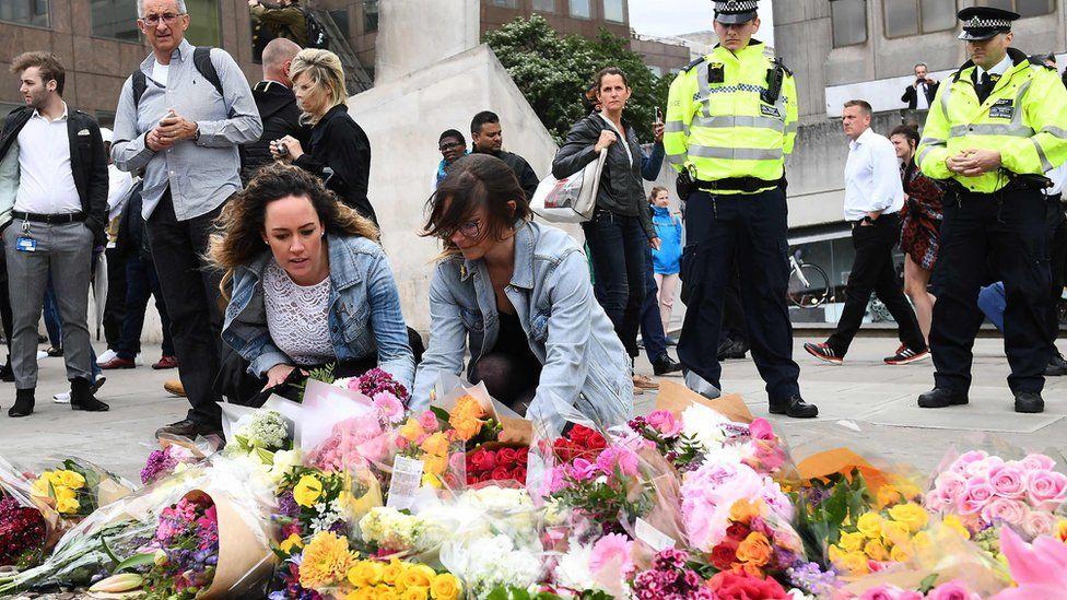 Flowers left near scene on attack