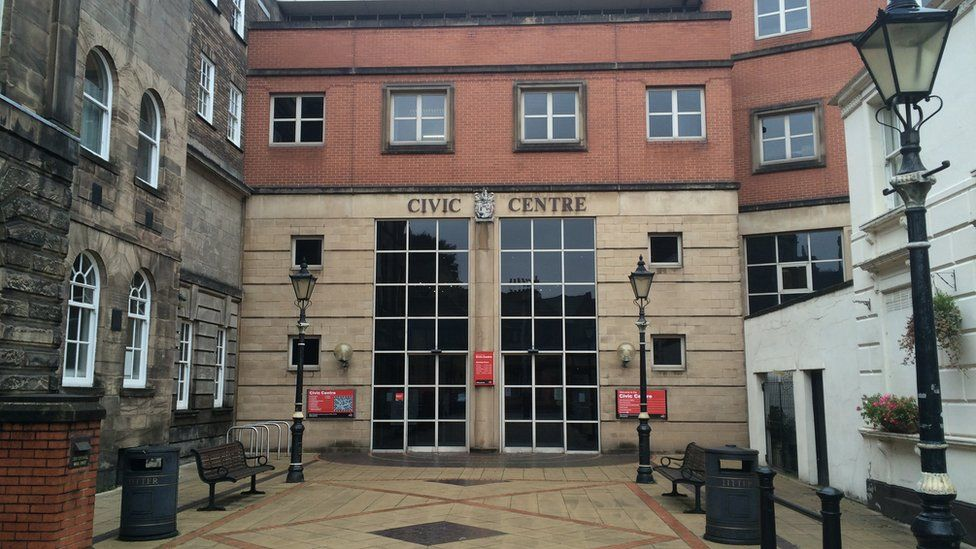 City council's headquarters in Stoke-on-Trent