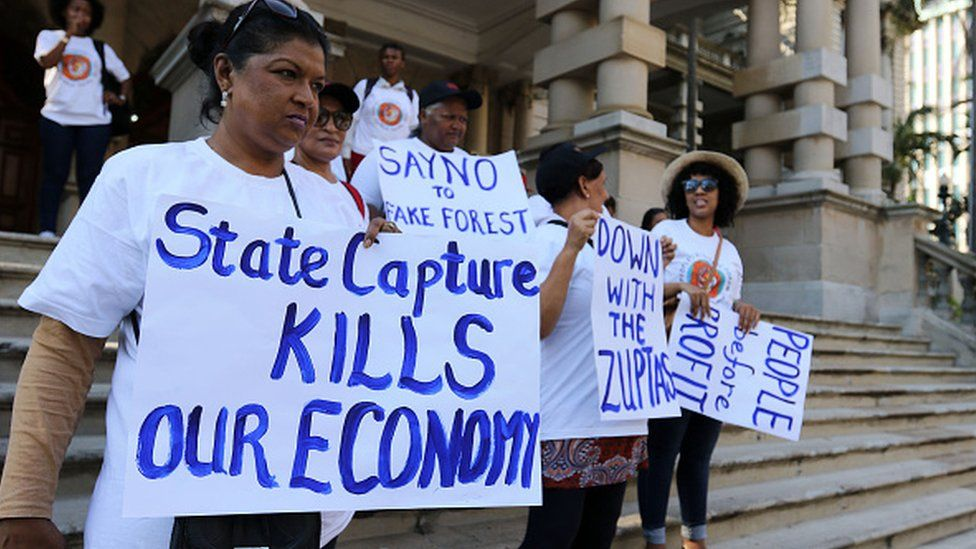 Protests against so called state capture in South Sfrica