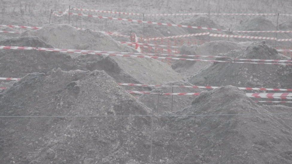 Excavation work beside the A303