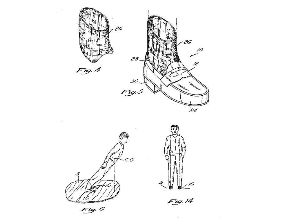 'Anti-gravity shoe' drawing