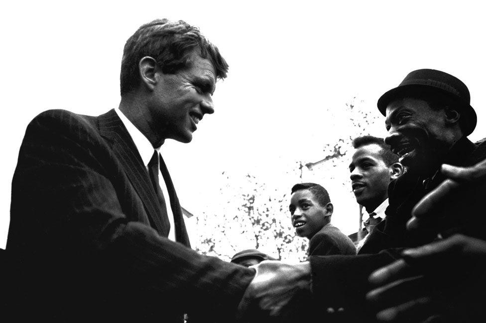 Kennedy in Harlem in 1964